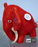 Steiff 401411 ELEPHANT 1909 REPLICA RED MOHAIR