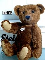 2018 Fall Steiff 403347 TEDDYBEER REPLICA 1909 BROWN MOHAIR