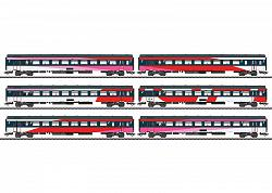 2017 Marklin 42648 DUTCH NS ICRm IC EXPRESS TRAIN PASS. CAR SET