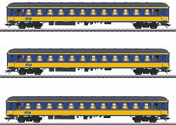 2018 Marklin 42904 DUTCH NS EXPRESS TRAIN PASSENGER CAR SET