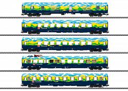 "2021 Marklin 43879 DB AG ""TOURISTIK"" PASSENGER CAR SET"