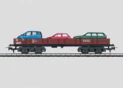 Märklin 44732 DB TYPE Rlmms AUTO TRANSPORT CAR w. LOAD OF 3 CARS