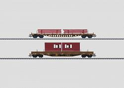 Märklin 47025 DSB LOW SIDE CARS SET WITH BUILDING MATERIALS