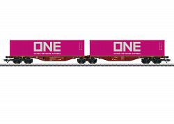 2021 Marklin 47808 TYPE Sggrss DOUBLE CONTAINER TRANSPORT CAR