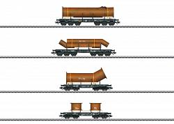 2018 Marklin 48695 HEAVY-DUTY FLAT CAR SET FOR THE CLASS 193