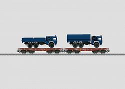 Märklin 48718 DB AG THW EMERGENCY AID FLAT CAR SET W. TRUCKS