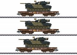 2020 Marklin 48795 DSB HEAVY-DUTY CARS WITH LEOPARD TANK SET
