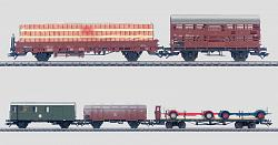 Marklin 48802 DB TRANSFER TRAIN 5 CARS FREIGHT SET 2003