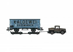 2021 Marklin 48822 DB TYPE G 10 BOX CAR WITH KAELBLE TRACTOR