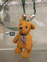 2017 Fall Steiff 605178 LITTLE SILK PLUSH TEDDY BEAR NECKLACE