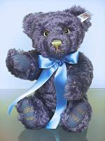 Steiff 658013 KOBER VIENNA 130 YEARS BLUE CELEBRATION TEDDY 1998