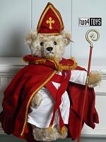 Steiff 661068 SINTERKLAAS ST. NICHOLAS TRADITIONAL DUTCH TEDDY