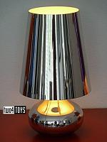 Kartell CINDY METALLIC TABLE LAMP PLATINUM FERRUCCIO LAVIANI