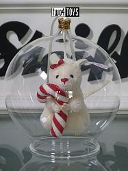 2018 Fall Steiff 006296 CANDY CANE MOUSE IN BAUBLE ORNAMENT