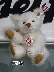2018 Steiff 006692 MINI TEDDY BEAR 1906 WHITE MOHAIR