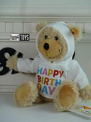 Steiff 012310 CHARLY HAPPY BIRTHDAY TEDDY WITH HOODY 2019