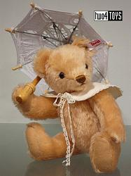 Steiff 021527 PICNIC GIRL TEDDY BEAR WITH UMBRELLA
