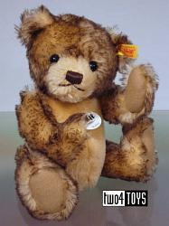 Steiff 027291 ROBBY TEDDY BEAR BROWN TIPPED MOHAIR 2011