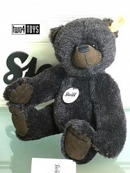 Steiff 027765 KIDDY TEDDY BEAR ANTHRACITE GRAY ALPACA 2011