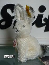 Steiff 032738 DORMY PET RABBIT WHITE MOHAIR 2005