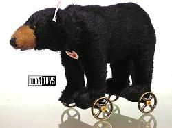 Steiff 034428 BLACK BEAR ON WHEELS 2014