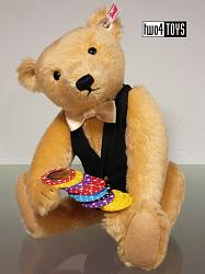 Steiff 034459 CASINO CROUPIER TEDDY BEAR BLOND MOHAIR 2015