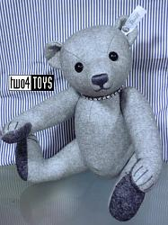 Steiff 035418 SEASIDE SELECTION GREY FELT TEDDY BEAR 2012