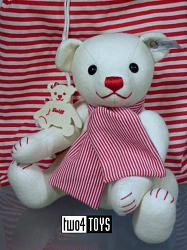 Steiff 035821 SELECTION FELT TEDDY BEAR WHITE