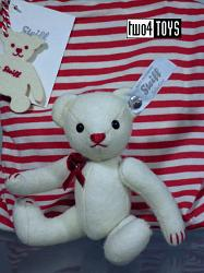 Steiff 035937 SELECTION FELT TEDDY BEAR WHITE