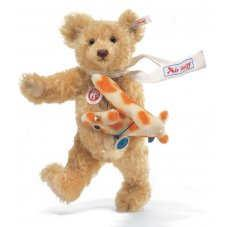 Steiff 038167 CLASSIC FLY AWAY TEDDY WITH RACKERPLAN 2007