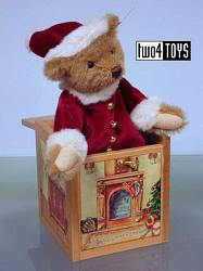 Steiff 038419 CHRISTMAS ALPACA SANTA IN THE BOX Lim.Ed.