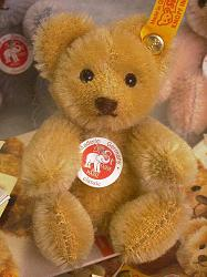 Steiff 039263 MINIATURE MOHAIR TEDDY BEAR BLOND 2005