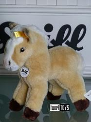 Steiff 052163 SMALL BLOND HORSE CUDDLY SOFT PLUSH 2007