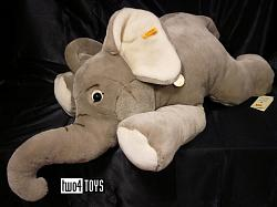 Steiff 064050 ORIGINAL ELEPHANT LARGE CUDDLY SOFT PLUSH 2008