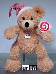 Steiff 111549 FYNN TEDDY BEAR WITH CAP AND LOLLY
