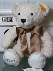 2018 Fall Steiff 113376 COSY YEAR BEAR 2019 CREAM PLUSH