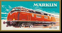 Marklin 15966 PAINTING BY NUMBERS 3021 V200 DIESEL LOCOMOTIVE
