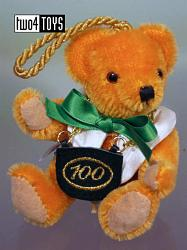 Hermann 22221-5 CENTENNIAL BEAR CHRISTMAS ORNAMENT 2002 L.E.