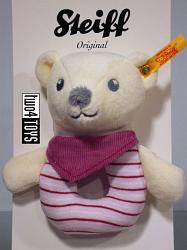 Steiff Baby 238918 KNUFFI TEDDY BEAR GRIP TOY