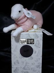 Steiff Selection Baby 239052 LAMB WITH MUSIC BOX ROSE