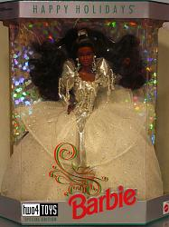 Barbie 2396 AFRO AMERICAN HAPPY HOLIDAYS NRFB 1992