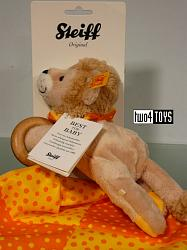 Steiff 240645 LEON LION 3-IN-1 BABY SOFT SKIN PLUSH