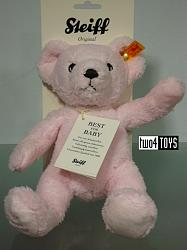 Steiff 240911 MY FIRST STEIFF TEDDY BEAR PINK CUDDLY SOFT