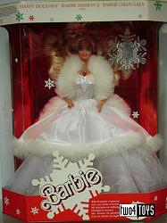 Barbie 3523 BLOND HAPPY HOLIDAYS EUROPE EDITION NRFB 1990