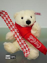 Steiff 355400 COCA-COLA POLAR BEAR WITH SNOWBOARD