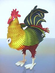 Steiff 411519 COCKEREL 1892 ROOSTER FELT
