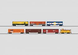Marklin 47760 USA SET WITH 7 TIN PLATE FREIGHT CARS