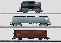 Marklin 48807 SBB SWISS FREIGHT CAR SET OF 3 CARS 2004