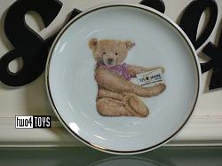 Steiff 613340 MINI CHINA WALL PLATE TEDDY APPOLONIA 2005