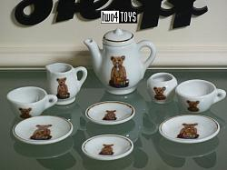 Steiff 613982 MINI CHINA DOLL'S TEA SET TEDDY PB55 PATERN 2002